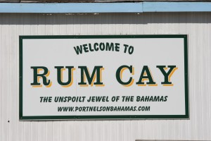 Rum Cay sign